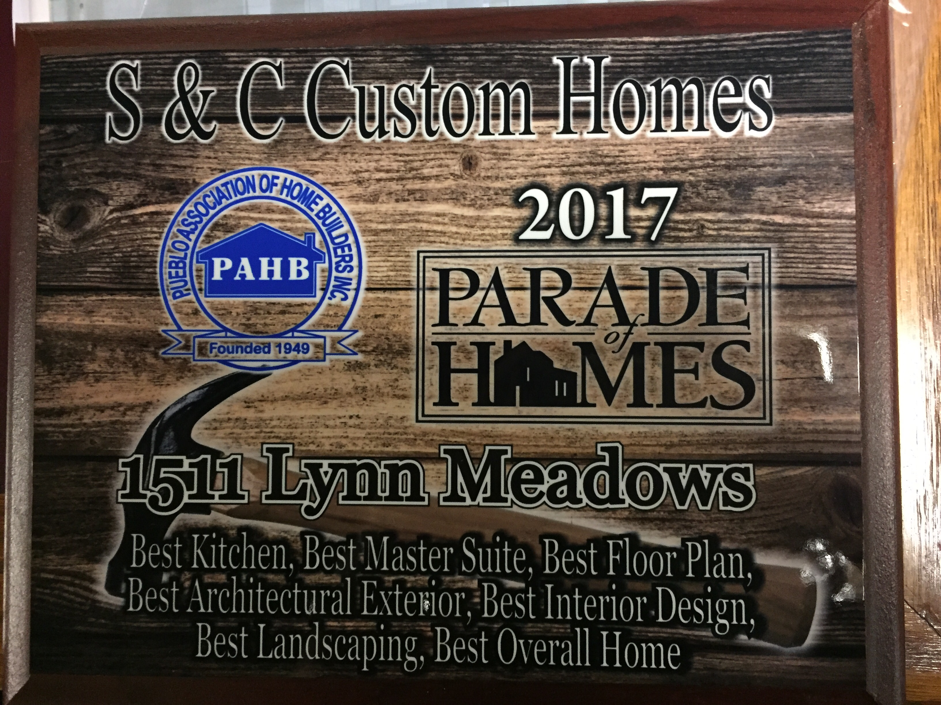 2017 Parade of Homes Award